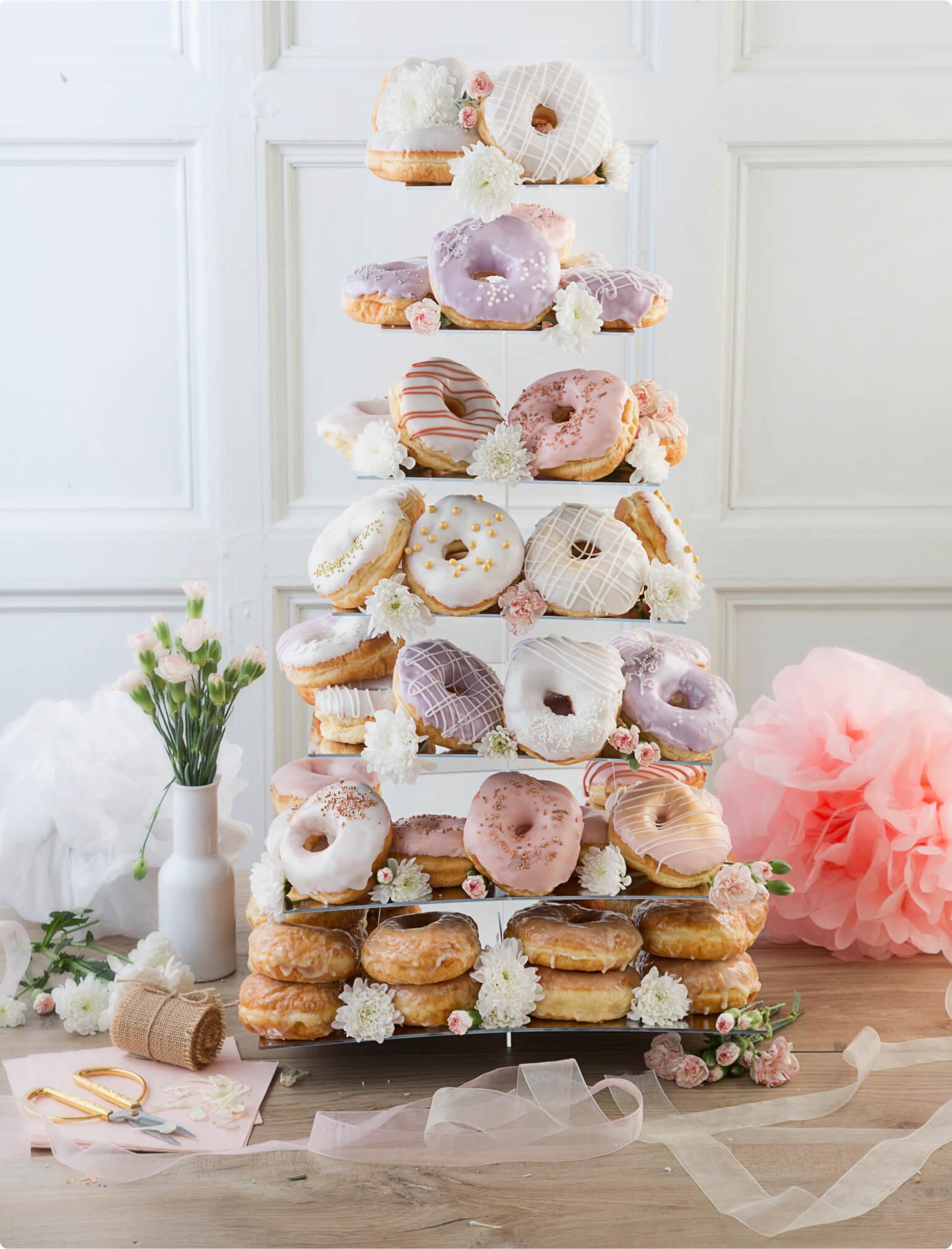 7 tier donut stand wedding